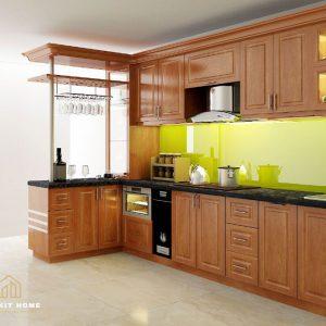 Tủ bếp gỗ xoan đào- Gỗ Xoan Đào Vietkit Home