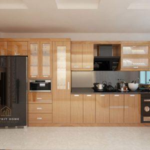 tủ bếp Veneer
