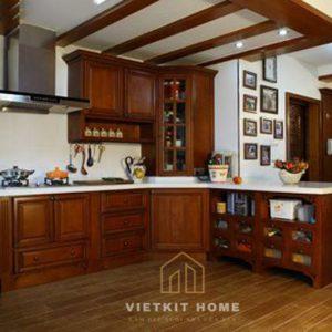 Tủ bếp Gỗ Dổi Mỹ giá tốt nhất Hà Nội- Vietkit Home