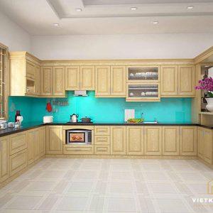 Mẫu Tủ Tủ Bếp Sồi Nga- Vietkit Home
