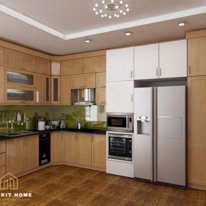 Mẫu Tủ Bếp Sồi Nga- Vietkit Home