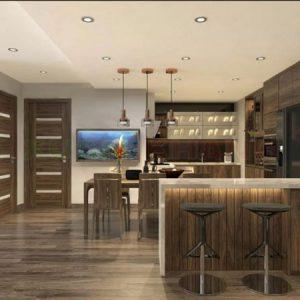 Vietkit Home chuyên làm tủ bếp có quầy bar uy tín