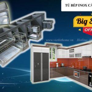 Tủ Bếp Inox Cánh Acrylic Khuyến Mại- Vietkit Home