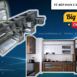 Tủ Bếp Inox Cánh Laminate giá rẻ nhất Hà Nội www.vietkithome.vn |Hotline: 0986282217